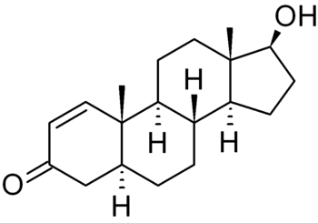 English: chemical structure of 1-testosterone