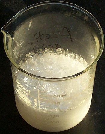 Crystallized acetic acid