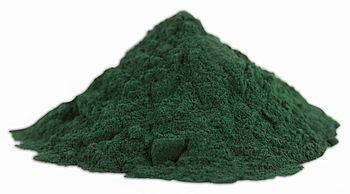 English: Spirulina (dietary supplement) powder...