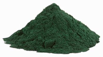 English: Spirulina (dietary supplement) powder...