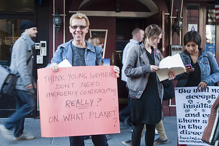 Flash mob demands morning-after pill