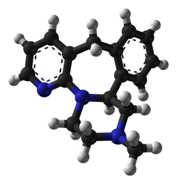Ball-and-stick model of the mirtazapine molecu...