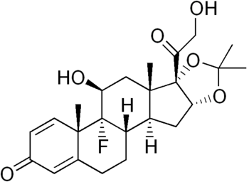 chemical structure of triamcinolone acetonide