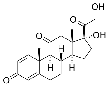 chemical structure of prednisone