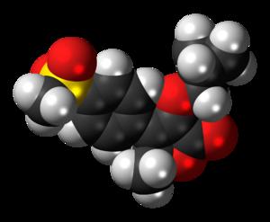 Space-filling model of the firocoxib molecule,...