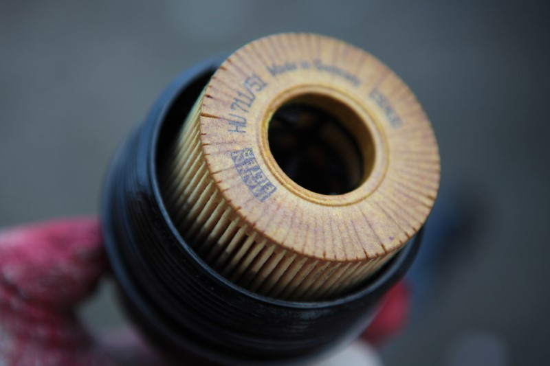 Oil filter for a car