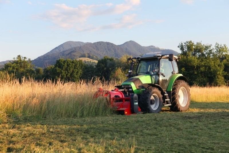 Mulchers turn grass into fine particles